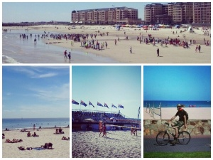 Summer activities at a Glenelg beach
