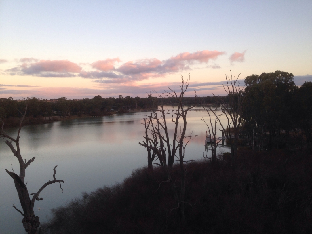River Murray at dusk, Riverland, South Australia
