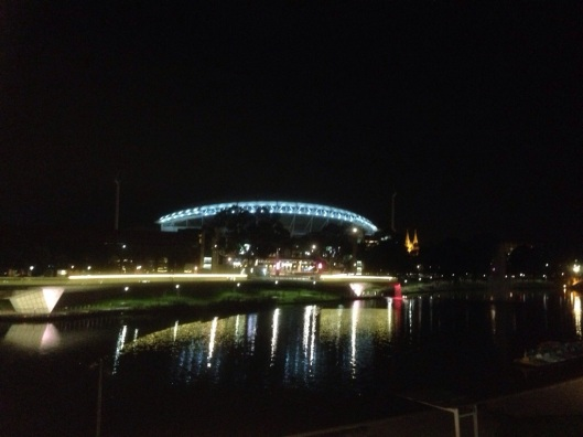 Adelaide Oval by night