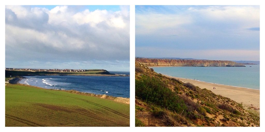 Banff Bay and Maslins Beach. Scotland in winter, South Australia in summer. Which is which?