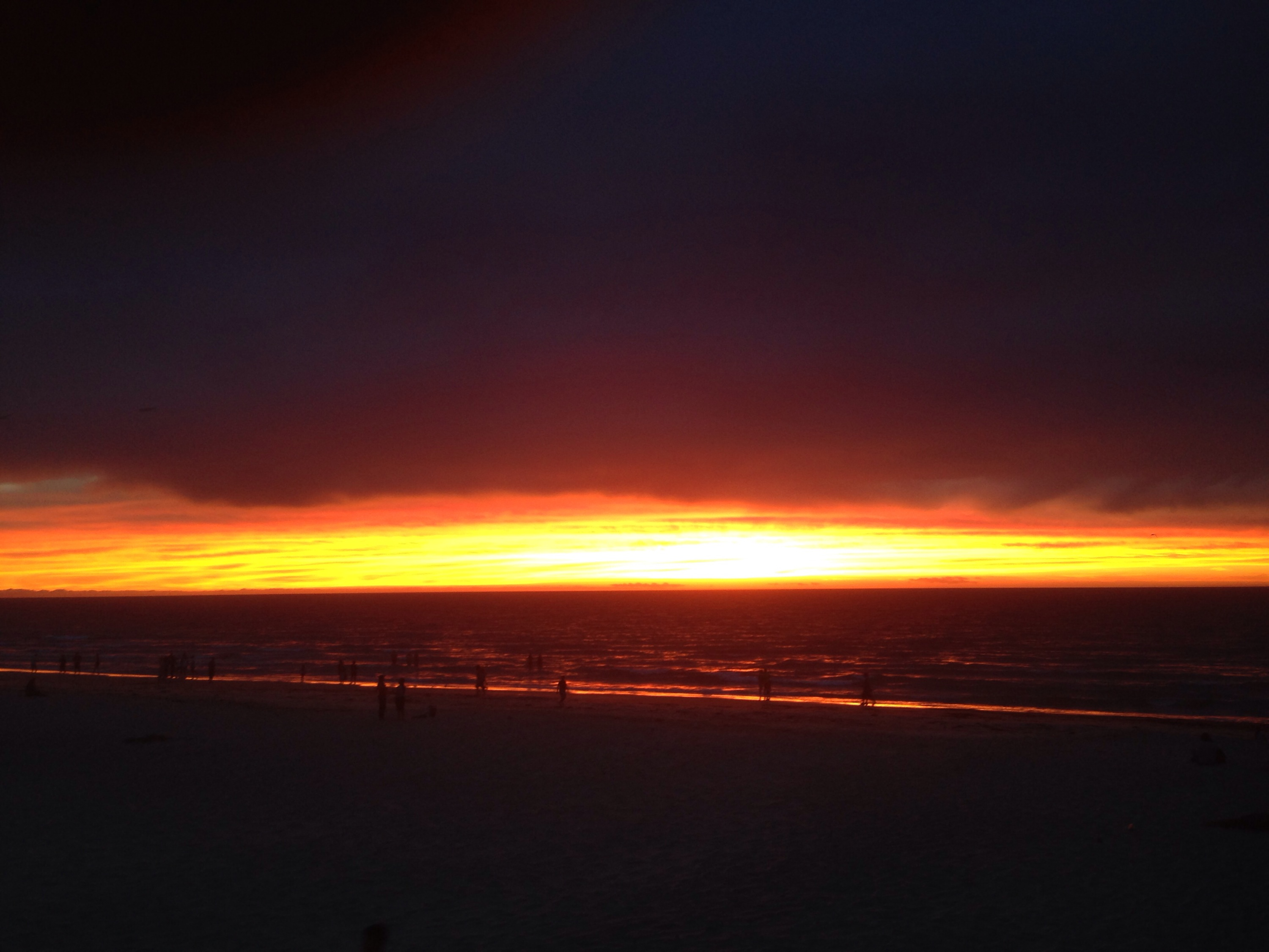 Glenelg sunset after bush fires