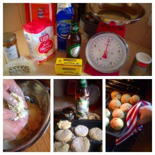 Cheese and chutney scones