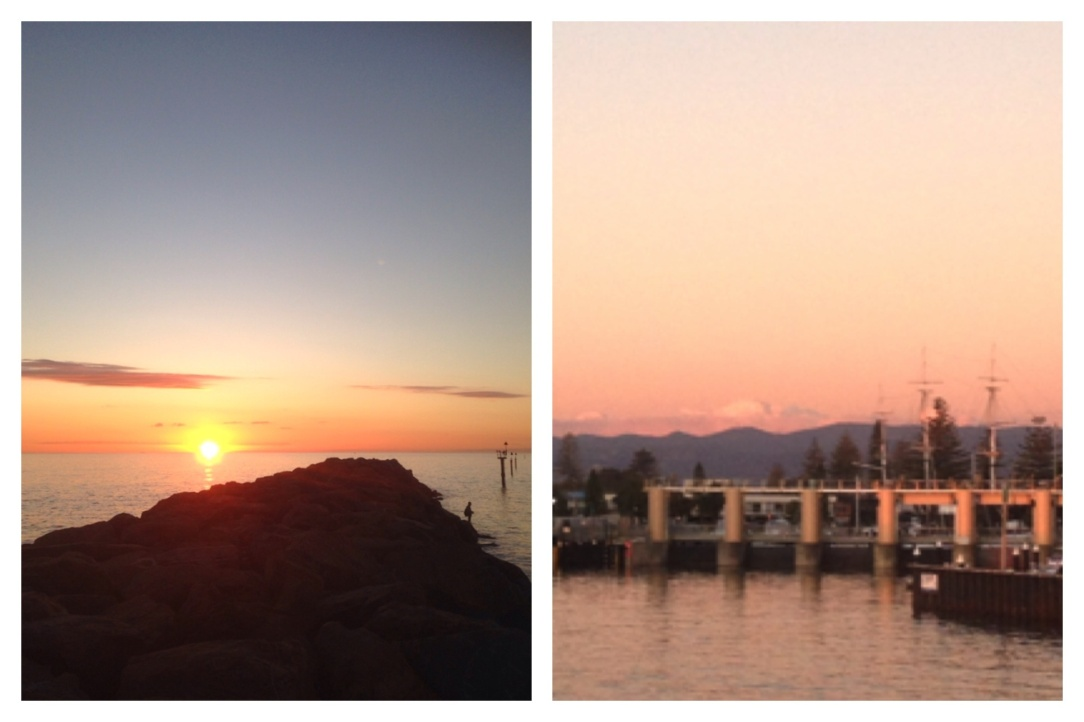 Glenelg marina sunset