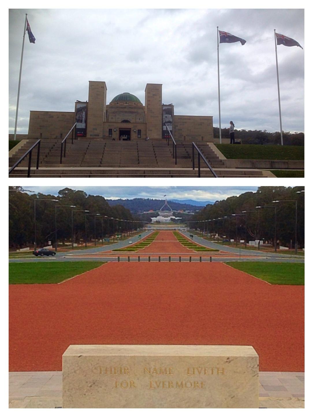 Australian War Memorial, Canberra, Anzac Drive, Australian Parliament