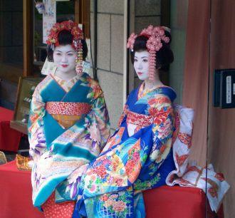 Geisha graduation, Kyoto, Japan