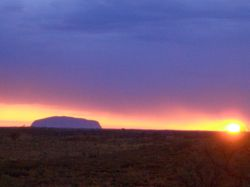 Uluru, Kata Tjuta and Kings Canyon, NT: sunset at Uluru