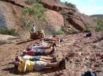 Lying at Kata Tjuta