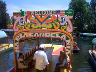 trajineras at Xochimilco, Mexico