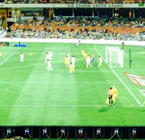 Socceroos attacking Tajikistan, Adelaide Oval