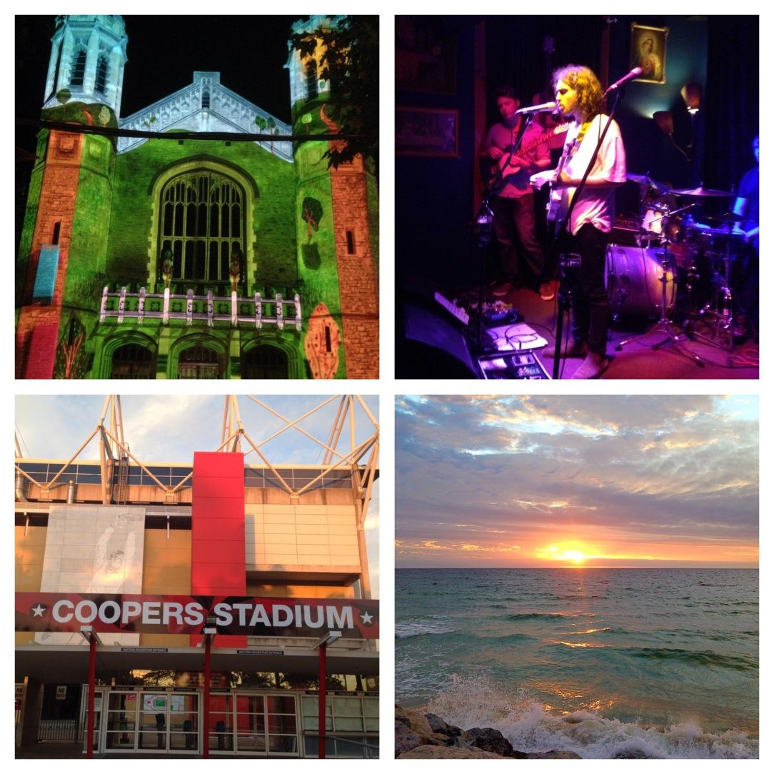 Adelaide Festival illuminations, Grace, Coopers Stadium, Glenelg beach