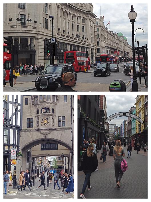 Regent Street, Kingly Street, Carnaby Street, London