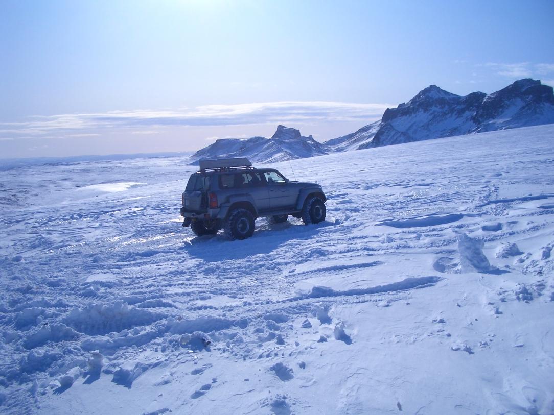Glacier driving, Iceland