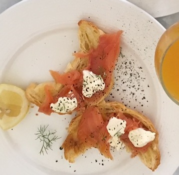 Christmas breakfast- smoked salmon
