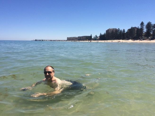 Christmas swim at Glenelg