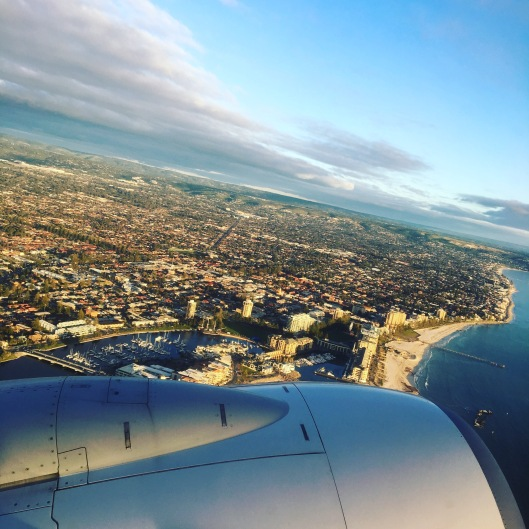 Glenelg beach from the air