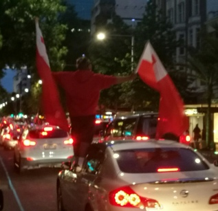 Tonga fans in Auckland
