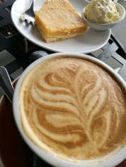 A flat white at St Kevin's Arcade,Auckland