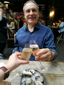 champagne and oysters at Depot, Auckland