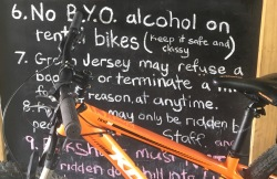 Bike hire, Martinborough, New Zealand