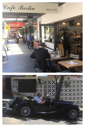 Cafe society and classic cars in Balmain, NSW