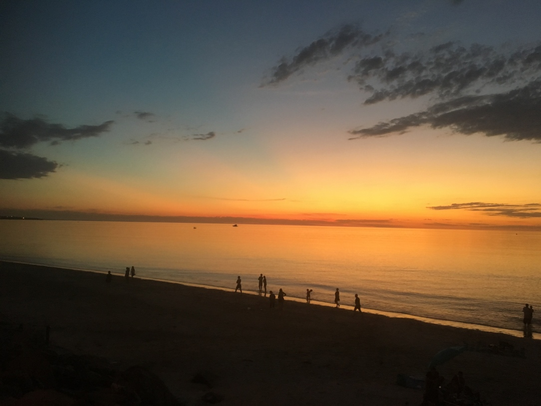 Adelaide sunset overtGulf St Vincent
