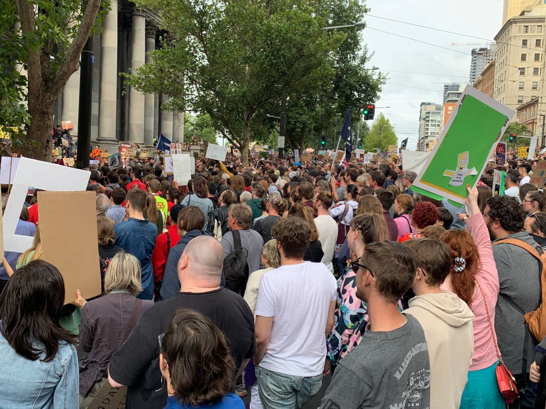 Student climate action demonstration Adelaide