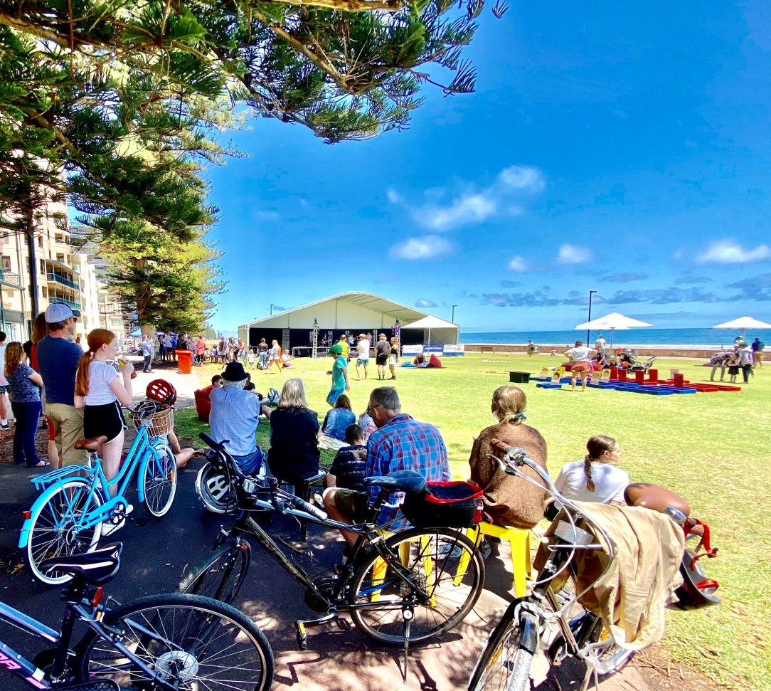Spincycle music festival, Glenelg beach